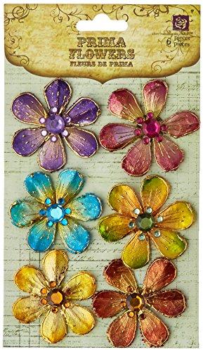 - Prima 538989 Cloissone Lacquer Style Flower Embellishments, Jewel Box