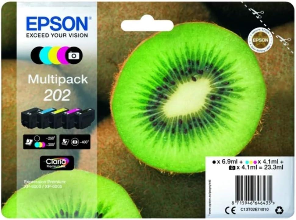 Epson C13T02E74010 - Original Cartuchos de Tinta, Color Multicolor 202 Válido para Epson Expression Premium XP-6000 / XP-6005