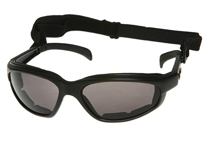 dc3cd27c50 Amazon.com  Chopper Men s Wind Resistant Motorcycle Wrap 57mm Dark Lens  Sunglasses  Clothing