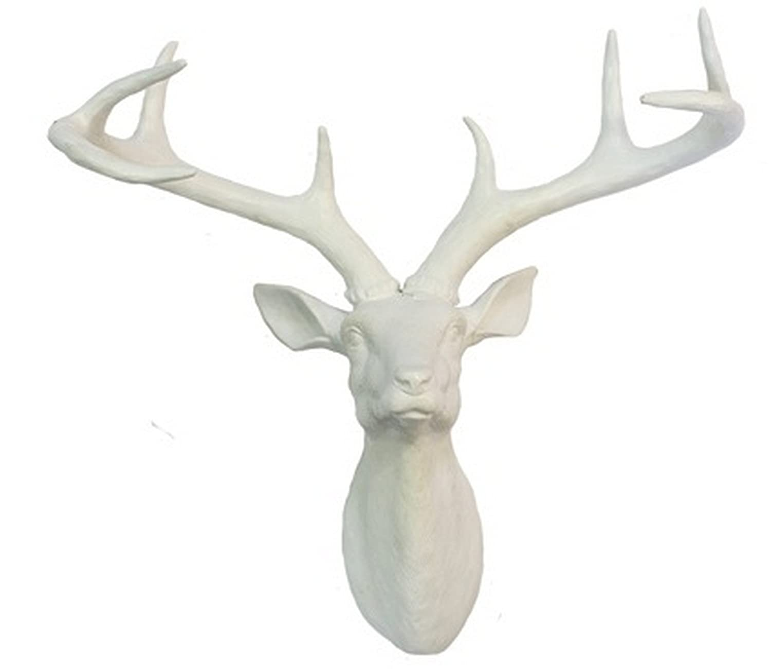 Arthouse Stag Head Décor, Resin, Black, 43 x 35 x 23 cm 8152