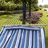SKB family Double Size Hammock Quilted Fabric With Pillow Spreader Bar Hang Bed Heavy Duty offers