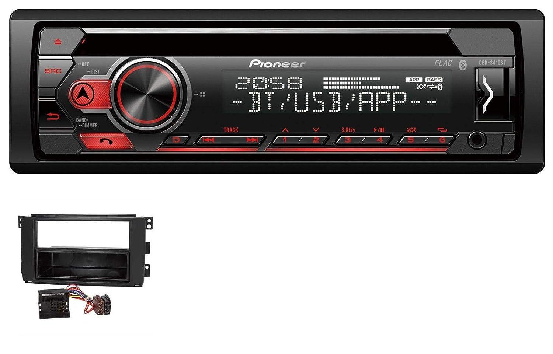 caraudio24 Pioneer DEH-S410BT MP3 CD USB AUX Bluetooth Autoradio fü r Smart ForTwo 451 ForFour 454 Quadlock