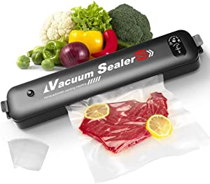 Vacuum Sealer Machine, Automatic Food Sealer with 30 PCS Vacuum Bags, Vacuum Air Sealing System for Foodsavers Portable Sealer Food Vacuum Sealer Machines for Kitchen Food Preservation Storage Saver