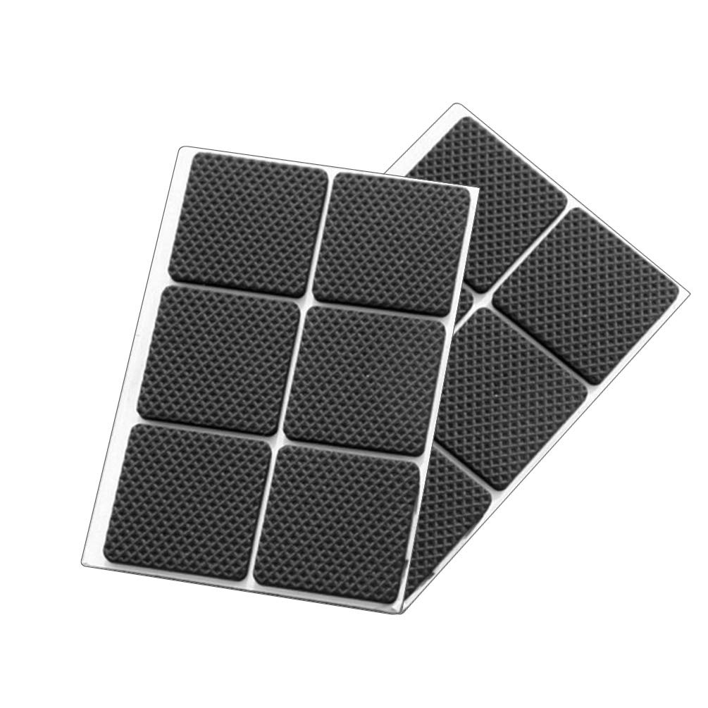 Round Square Shape Self Adhesive, Non-Slip Furniture Pads, Feet Sofa Table Chair Sticky Floor Protector - Square by TIMLand (Image #2)
