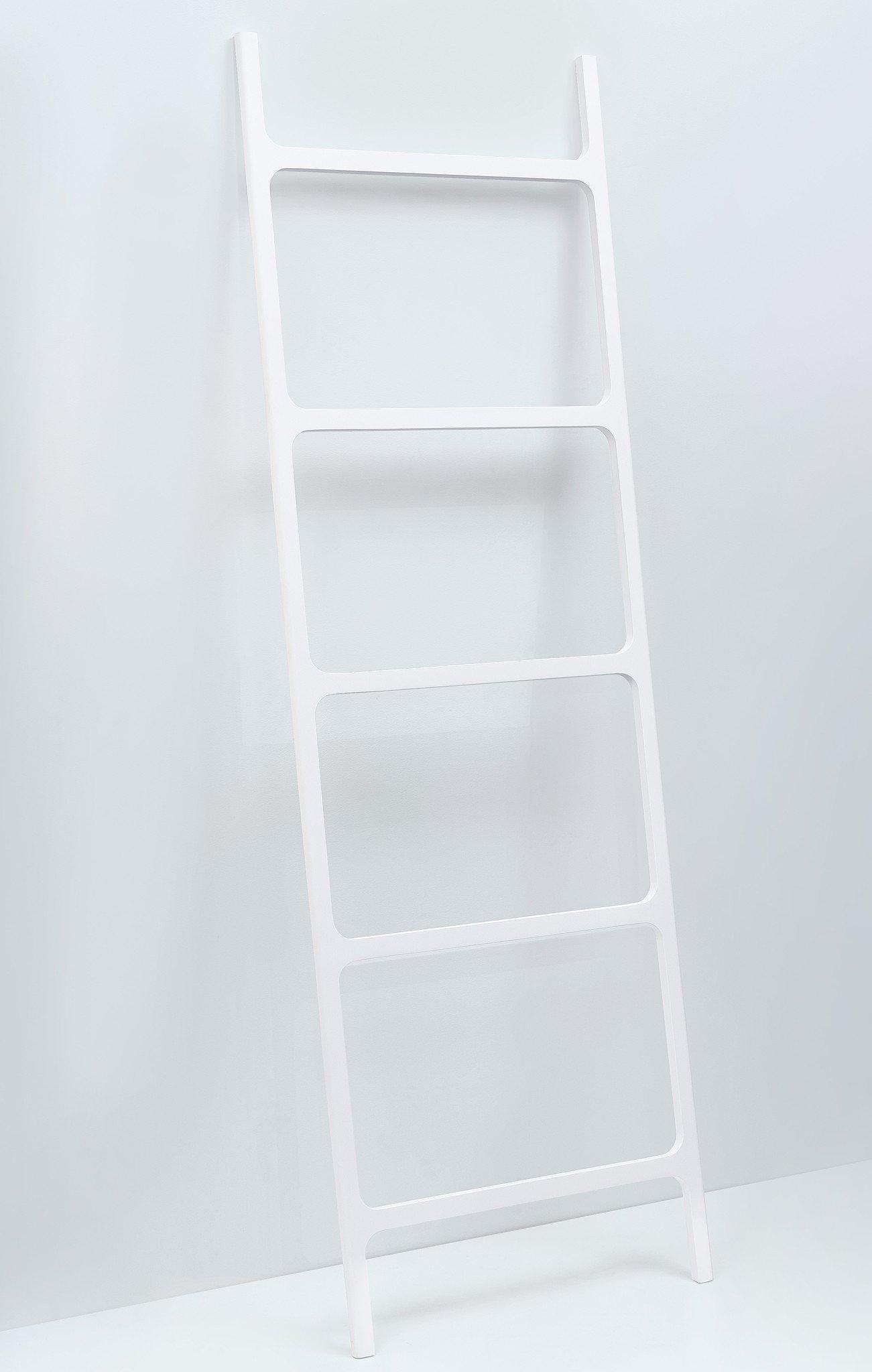 DWBA Stone Standing Towel Rack Ladder for Bathroom Spa Towel Hanger, White by DWBA Bath Collection (Image #2)