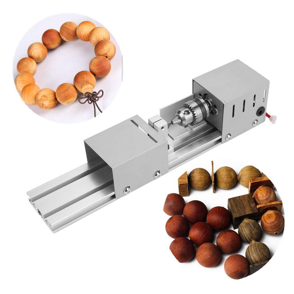 Beads Polisher-Mini Lathe Beads Polisher Jewelry Beads Polishing Grinding Machine for DIY Woodworking Rotary Tool