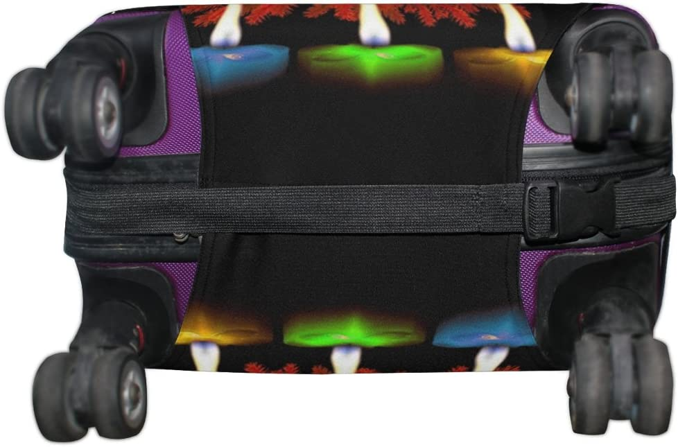 LEISISI Luggage protection cover Travel Suitcase covers Candles Print Design XL 31-32 inch