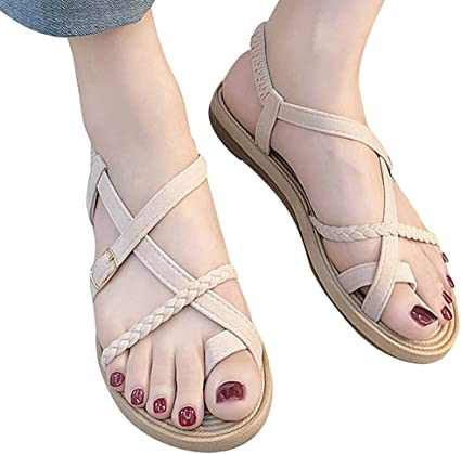 Trolimons Women Open Toe Slippers Summer Platform Wedges Sandals Casual Shoes Beach Shoes Flip Flops Square Heel Party