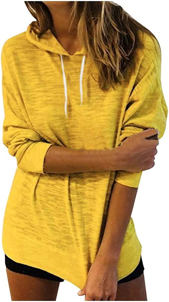 Fashion Loose Solid Color Hoodies for Women Miuye yuren Hooded Warm Pullovers Woman Long Sleeve Tops