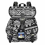 VBG VBIGER Casual Canvas Backpack for Women & Girls Elephant Backpack for Women Canvas Backpack Travel College Daypack (Elephant Black)
