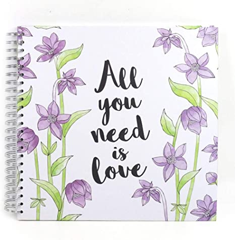 """All You Need Is Love 12x12/"""" Simply Creative Scrapbook Memory Photo Album"""
