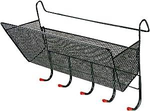Trycooling Bedside Caddy Storage/Bedside Hanging Storage Basket with Hook for Dorm Office Home Hospital Bunk Beds (Black)