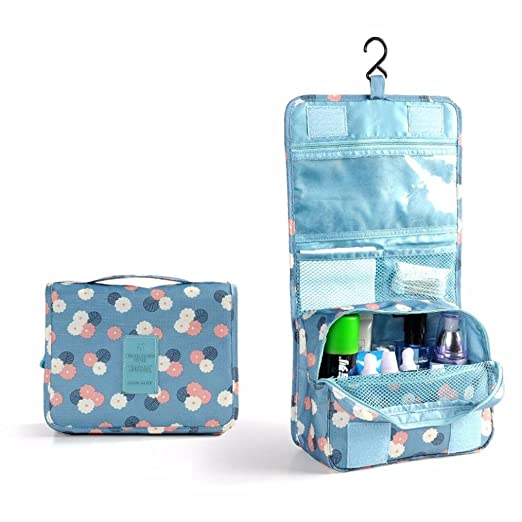 bb49b02262 GBSELL Pockettrip Hanging Toiletry Kit Clear Travel BAG Cosmetic Carry Case  (Blue )
