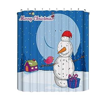 Weihnachten 2019 Schnee.Mitlfuny Weihnachten Diy Home Decor 2019 Weihnachtsgeschenkboxen Im Schnee Bad Duschvorhang Wasserdichtes Gewebe 12 Haken