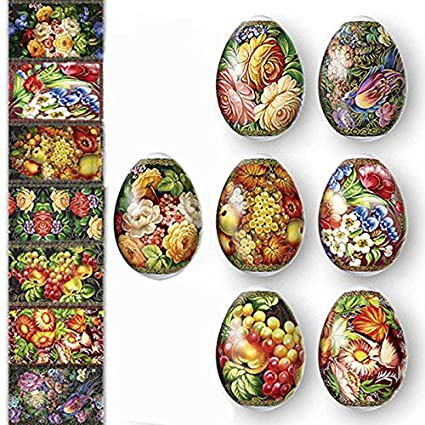 Amazon Com Ukrainian Heat Shrink Wrap Sleeve Decoration Easter Egg