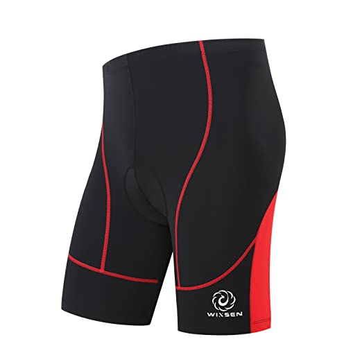 Amazon.com  WINSEN Cycling Shorts Men s 3D 8 Panel Gel Padded-  Breathable b911412fc