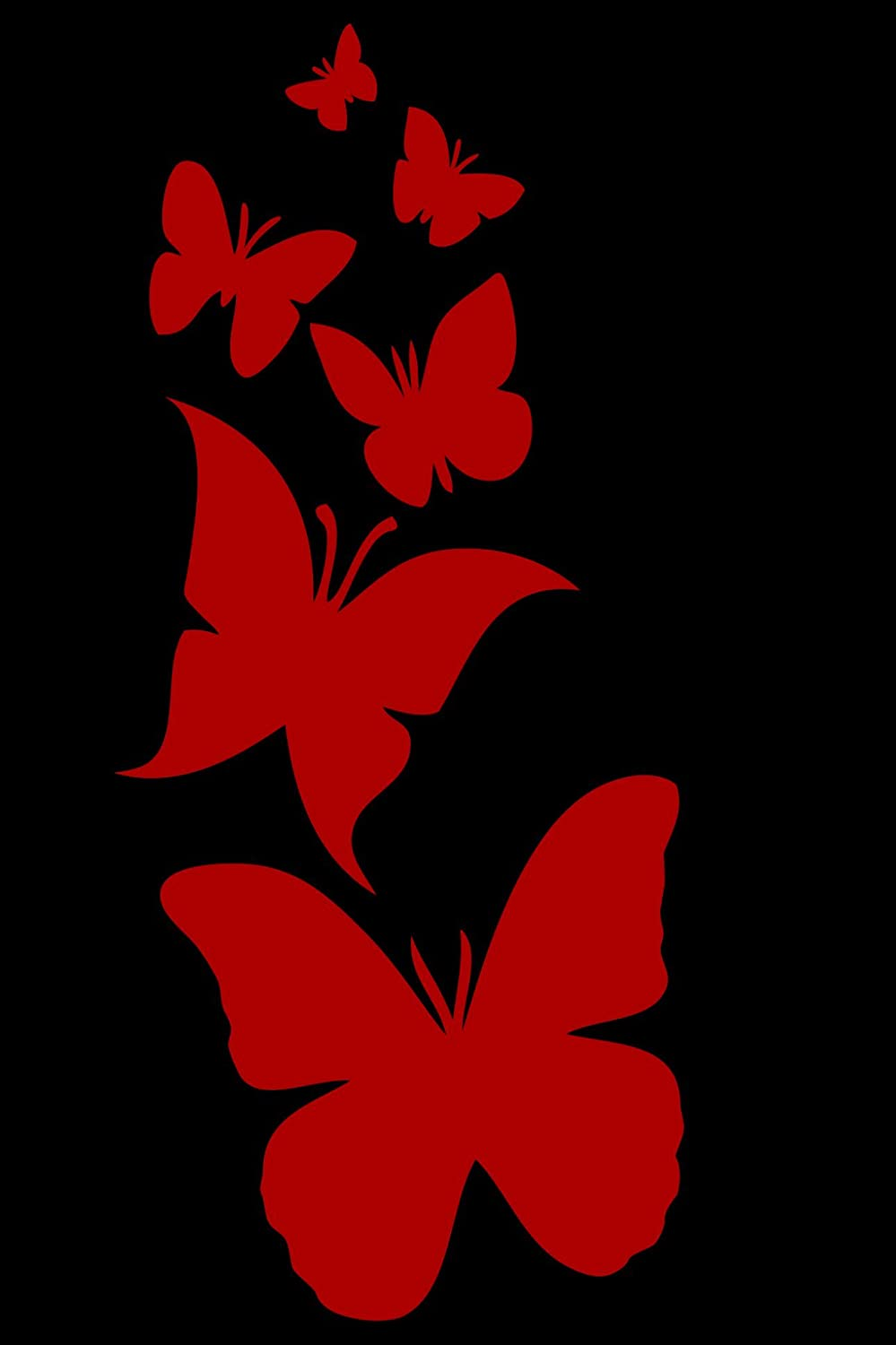 Laptop 3.5x8 Laptop 3.5x8 white Red Clay Designs 10-530 white Truck Butterfly Family- Die Cut Vinyl Window Decal//sticker for Car