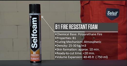 Selsil Fire Rated B1 pistola aplicada de espuma de ...