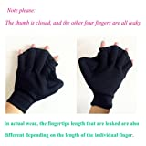 Zerlar Neoprene Aqua Gloves With Webbed Fingers For Adults Swimming Fitness Water Resistance Training