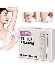 IPL la depilación,Depilación permanente,Depiladora de luz pulsada para 500,000 Pulsaciones para el Retiro del Pelo,Permanente con Sensor de Piel para Hogar y Viaje, para Mujer y Hombre
