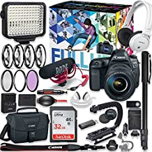 Canon EOS 5d Mark IV DSLR Camera Premium Video Creator Kit with Canon 24-105mm STM Lens + Sony Monitor Series Headphones + Video LED Light + 32gb Memory + Monopod + High End Accessory Bundle