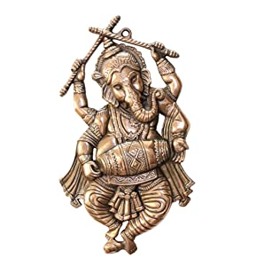 APKAMART Lord Ganesh Wall Hanging - Dancing Pose - 18 Inch Height - for Wall Decor and Gifts
