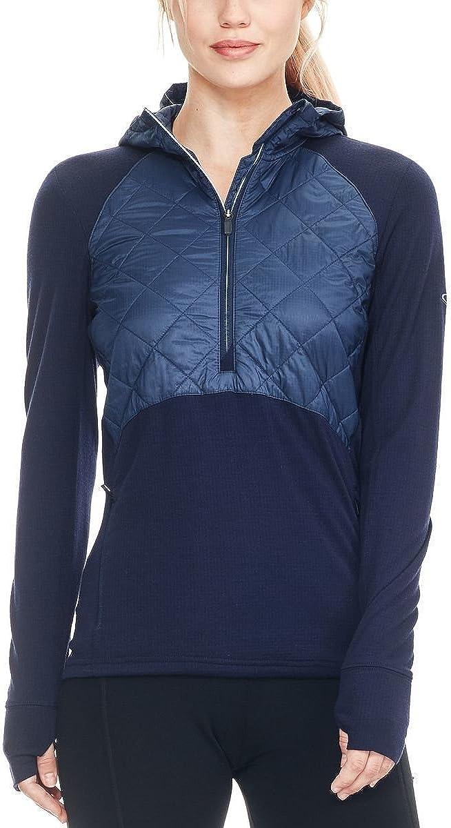 アイスブレーカー スポーツ フィットネス トップス Ellipse 1/2-Zip Hooded Pullover - Women' Midnight N 1wt [並行輸入品]