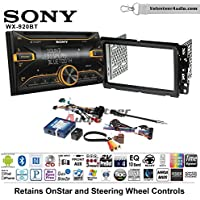 Volunteer Audio Sony WX-920BT Double Din Radio Install Kit with Bluetooth, Pandora, and SiriusXM Ready For 2000-2005 Saturn S/L Series