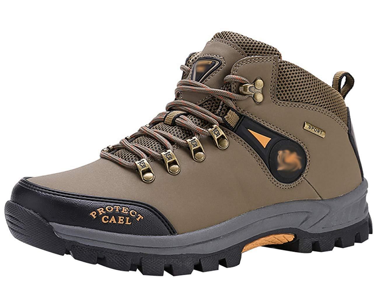 HhGold Männer Wanderschuhe Stiefel Leder Wanderschuhe Turnschuhe Für Outdoor Trekking Training Beiläufige Arbeit (Farbe : 17, Größe : 42EU)