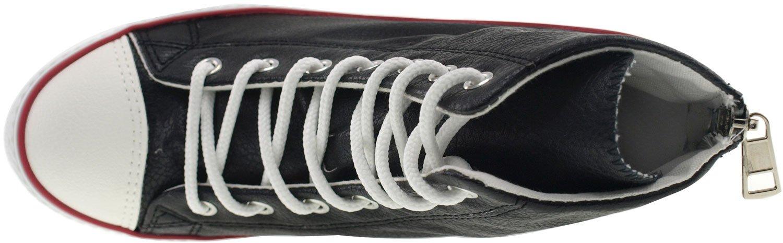 3e8b2b0246e ... Maxstar Women s 777 777 777 Back Zipper PU High Wedge Heel Sneakers  B00XTIK5BO 10 B(