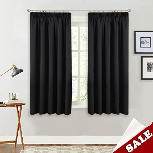PONY DANCE Blackout Curtain Panels   Super Soft Solid Noise Reducing Window  Curtains Room Darkening Light