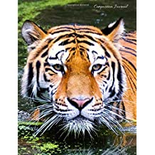 Composition Journal: Tiger - 100 Wide Ruled Pages - Student Notebook