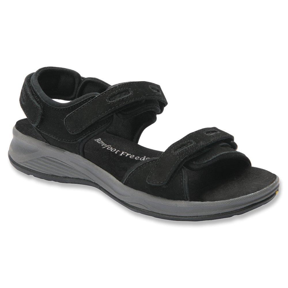 Drew Cascade Women's Sandal B00Y8MFW9A 8 2A(N) US|Black Nubuck