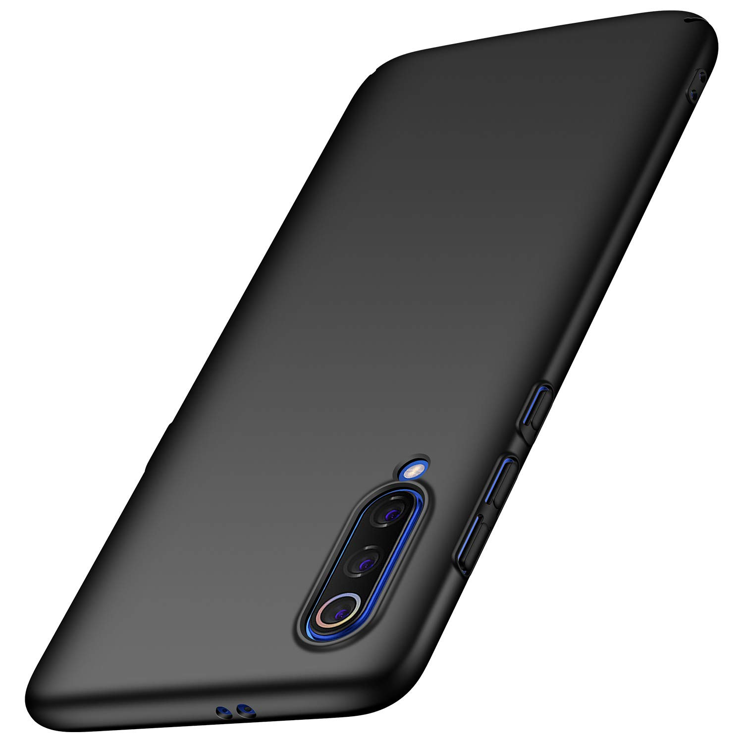 Arkour Xiaomi Mi 9 Case, Minimalist Ultra Thin Slim Fit Smooth Matte Surface Hard PC Cover for Xiaomi Mi 9 (Black)