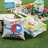 HOMEE Special Stamp Ice Silk Cartoon Pillow Cushion Used by Two of the Summer Afternoon Nap by Children by a Car Headrest Air-Conditioning ,4040,Love,Travel,5050
