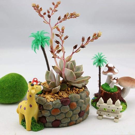 Whiie891203 - Maceta en Miniatura para jardín de Hadas, diseño de Jirafa, Un Color: Amazon.es: Jardín