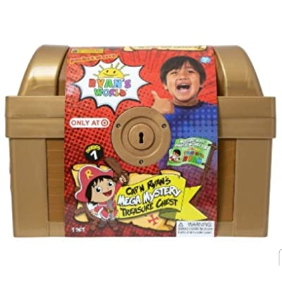 Ryans World Exclusive Gold Mega Mystery Surprise Treasure Chest: Toys & Games