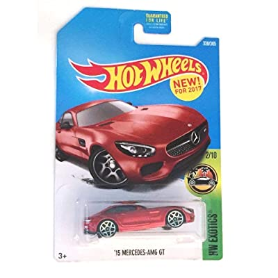 Hot Wheels 2020 HW Exotics '15 Mercedes AMG-GT 338/365, Red: Toys & Games