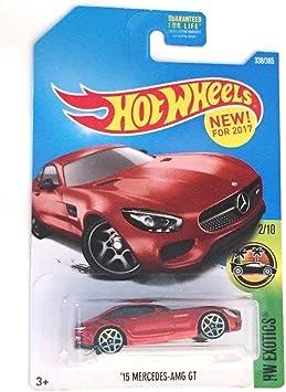 2017 HOT WHEELS ´15 MERCEDES AMG GT     SHORT CARD 1//64 APROX *NEW*