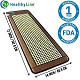 HealthyLine Natural Far Infrared Heating Mat - Relieve Muscles Pain, Joints, Nerves & Bones - 72'' x 24'' (Full Length & Firm) -  Jade Stone -  Negative Ions -  US FDA