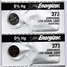2PC Energizer 373 SR916SW Silver Oxide Battery - Made in Japan