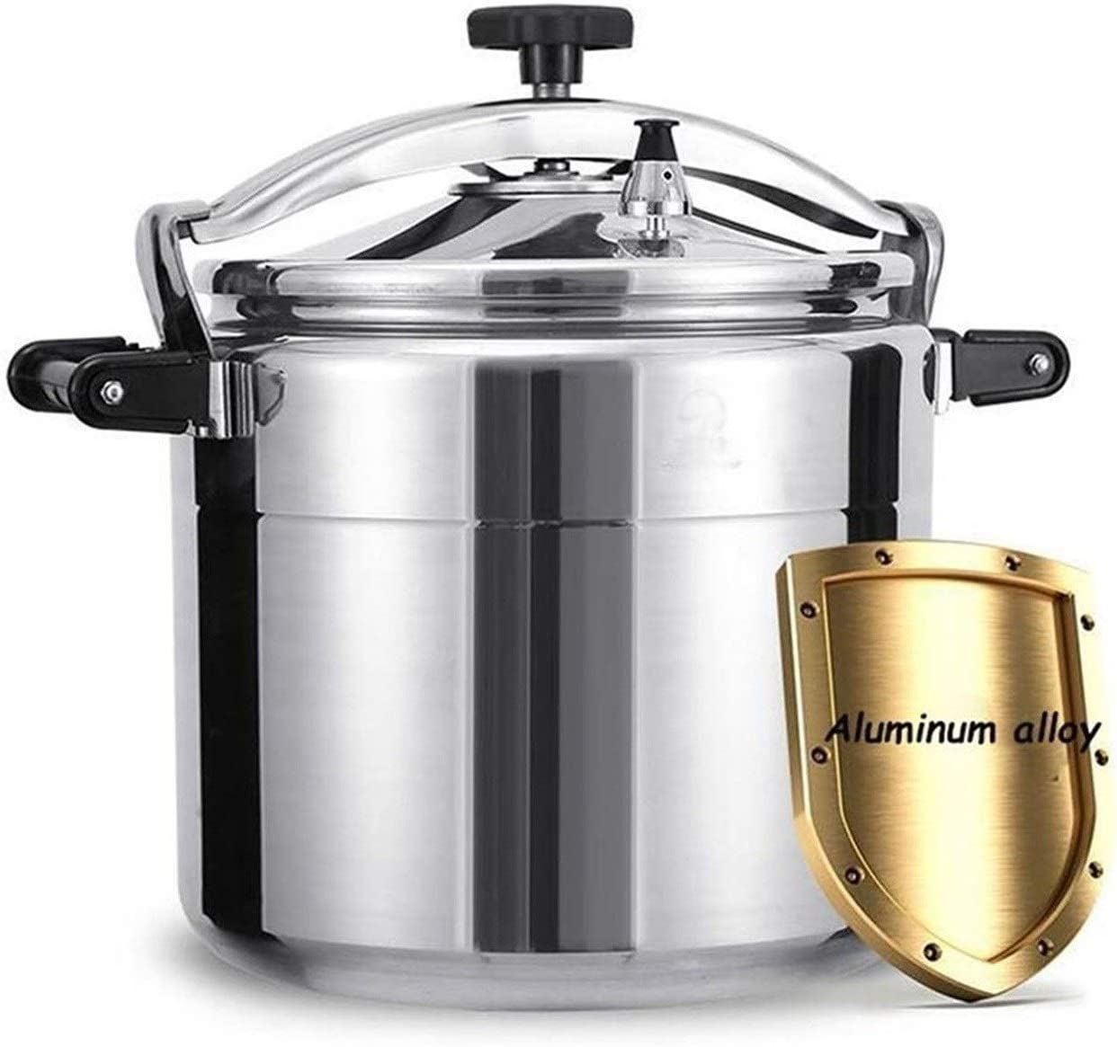 Commercial pressure cooker aluminum alloy explosion-proof pressure cooker is suitable for large-capacity thickened gas stove pressure cooker 9L-50L in family hotel canteens and schools