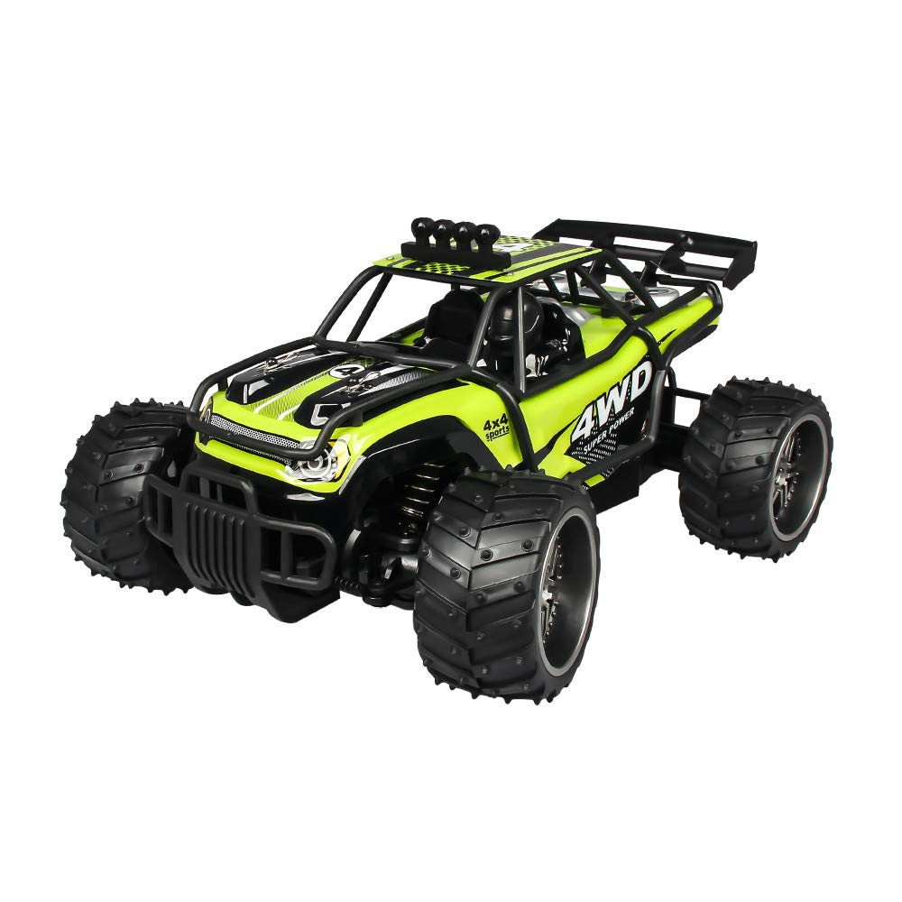 RC Car,Remote Control Car,Stunt Car Toy, X Power s-009 1:16 25km/h 2.4G RC Off Road Monster Truck 4WD Double Battery High Power Racing Truck for All Adults and Kids (Green) by Lucoo Toy