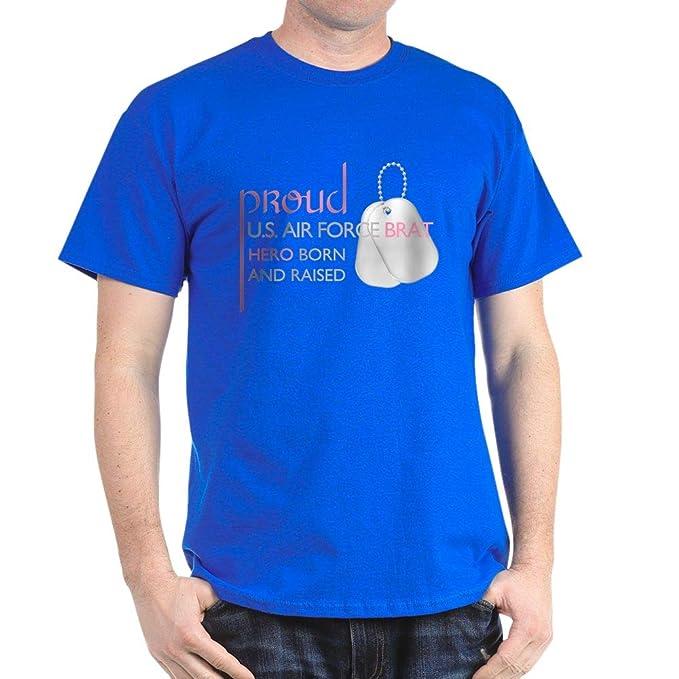 25e2b349 Amazon.com: CafePress Proud U.S. Air Force Brat (Pi Dark Cotton T-Shirt:  Clothing