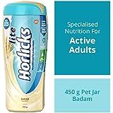 Horlicks Lite Health & Nutrition drink - 450 g Pet Jar (Badam flavor)