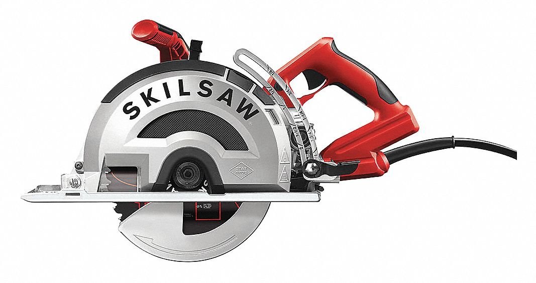 8'' Worm Drive Circular Saw, 3900 No Load RPM, 15.0 Amps, Blade Side: Left