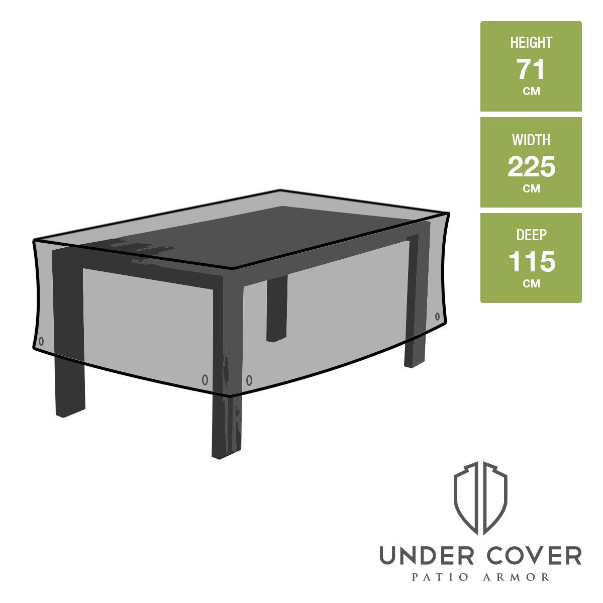 Rectangular Patio Table Cover, Extra Large   Strong And Durable, Premium  High Grade Waterproof UV Furniture Cover   Stone Grey   Toughest On Amazon:  ...