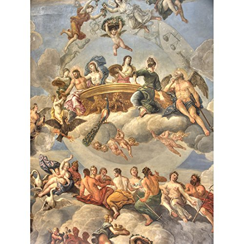 Meishe Art Poster Print Canvas Wall Art Pictures Frescos in the Sistine Chapel by Michelangelo Artwork Oil Painting Reproduction (23.62'' x ()