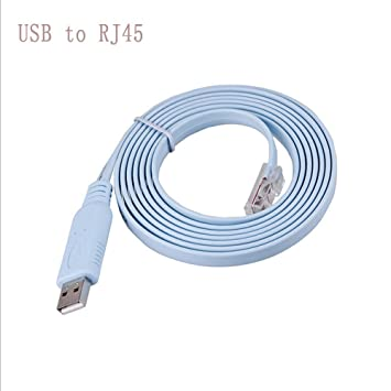 *New* USB to RS232 Serial to RJ45 CAT5 Console Adapter Cable for Cisco Routers