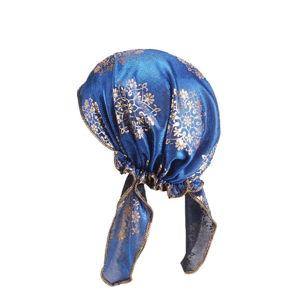 f44bf9f0c748 Mamum Turban Femme Ete Mode Élégant Hijab Bandana Set pour Chimio, Cancer,  Maquillage,